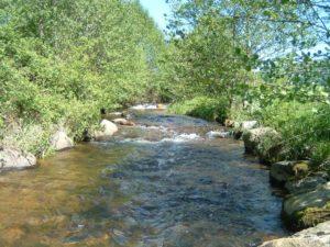 randonnée dans la rivière